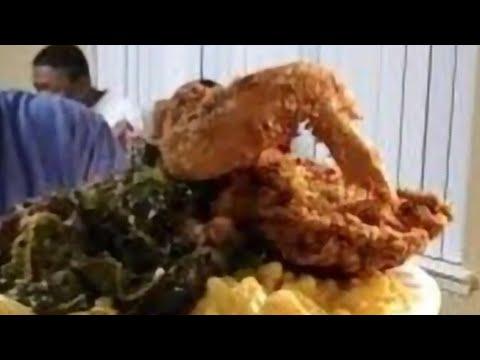 Soul Food Mustard Fried Chicken/ Mukbang