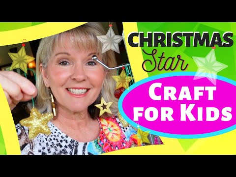 EASY CHRISTMAS STAR * ORNAMENT CRAFT * for kids, school, home & Sunday School (WRIGHT IDEAS)