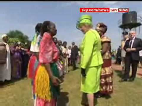 Queen Visits Africa Aids Clinic