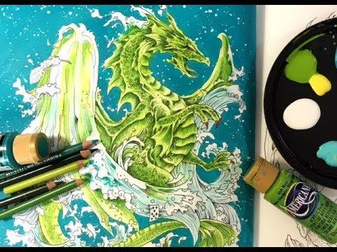 Coloring a Dragon in Mythomorphia