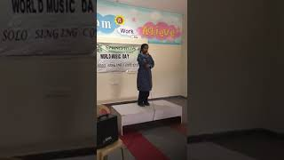 Solo Singing Competition for World Music Day Celebration at Springfields International School