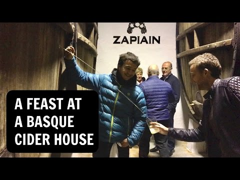 A feast at a Basque cider house!