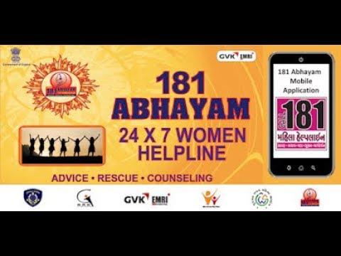 181 Abhayam Women Helpline for all women in Gujarat.