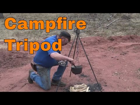 Forging a campfire cooking tripod - basic blacksmithing project