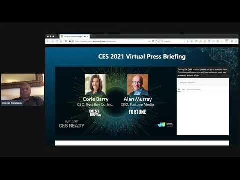 CES Virtual Press Briefing CES 2021 All-Digital Featuring CTA' CEO Gary Shapiro, Tech Executives