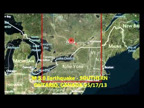 M 5.0 EARTHQUAKE - SOUTHERN ONTARIO, CANADA 05/17/13