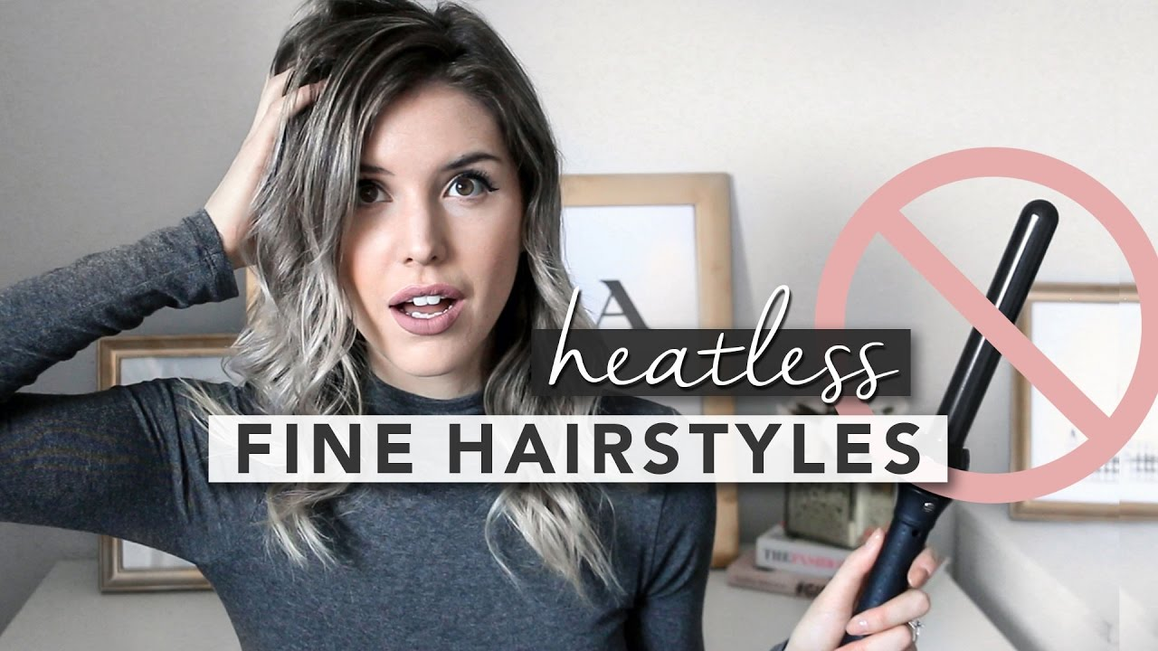 HAIRSTYLING IDEAS FOR FINE HAIR YouTube - Fine hair styling