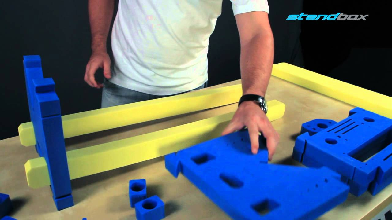 Standbox 174 Assembling Of Fuselage Stand For Rc Airplane