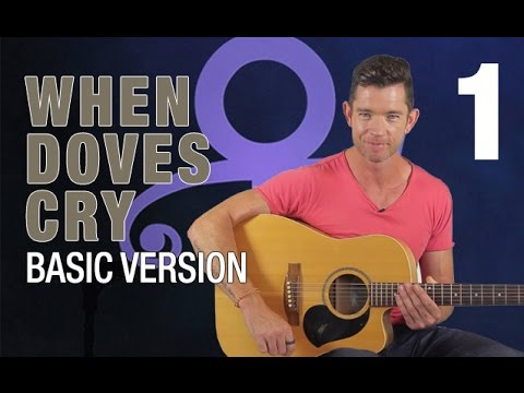 When Doves Cry Guitar Lesson  Part 1  Basic Version