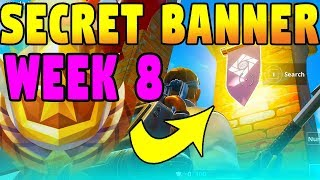 FORTNITE WEEK 8 SECRET BANNER LOCATION! (SEASON 6 HIDDEN BATTLE STAR)