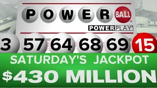 Powerball jackpot rises to $430 million after no one picks winning numbers