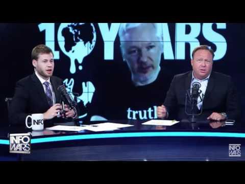 "Alex Jones Declares War on Julian Assange: ""Move Bitch, Get Out The Way!"""