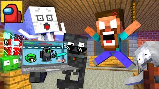 Monster School : AMONG US WITHER CHEATER IMPOSTOR APOCALYPSE - Minecraft Animation