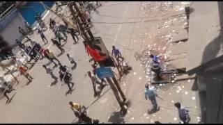 Stonepelting during hazaribag ramnavmi 2016