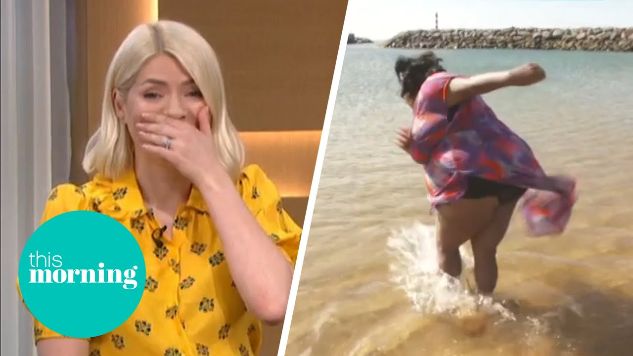 Download Alison Hammond Nearly Falls in the Sea in Madeira | This Morning