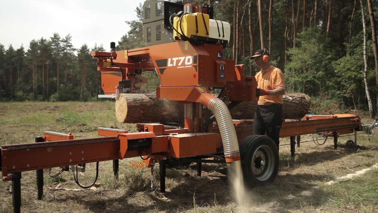 Saw Mill For Sale >> Wood-Mizer LT70 Mobile Sawmill - Europe - YouTube