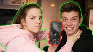 Zniszczyłem telefon mojej siostry... **smutne**