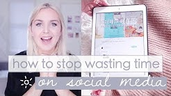 6 Ways to STOP Wasting Your Time on Social Media ☀️ MuchelleB