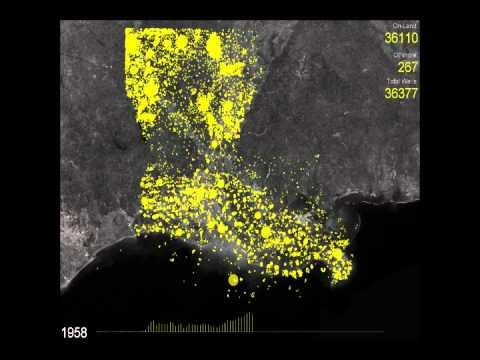 Evolution of Oil and Gas Wells in Louisiana
