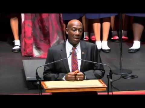 Swearing In ceremony of Trinidad & Tobago Prime Minister Keith Rowley