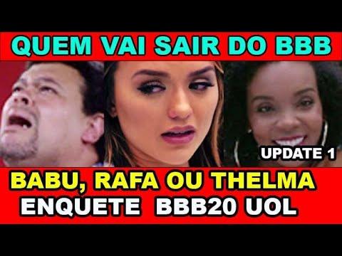 BBB20: Enquete Mostra quem vai sair do BBB20 no último paredão entre Thelma, Babu e Rafa