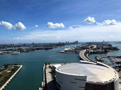 Panoramic Views Of Biscayne Bay: Marina Blue In Downtown Miami, Unit 3401 For Sale. 2/2 Corner Unit