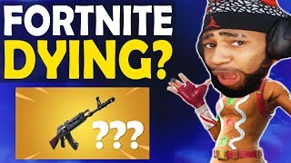 IS FORTNITE DYING? | REACTION TO NEW HEAVY AR | HIGH KILL FUNNY GAME -(Fortnite Battle Royale)