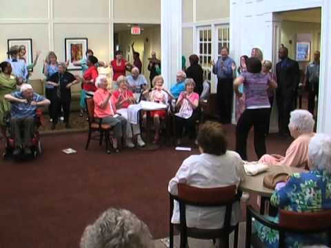 Senior Citizens Dance  to Pharrell Williams Happy Song Choreographed by: Davina Ware
