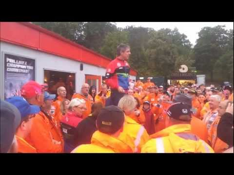 Jason Plato Speeaking to Marshals - Brands Hatch BTCC