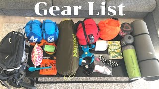 GEAR LIST - Solo Backpacking With Dogs
