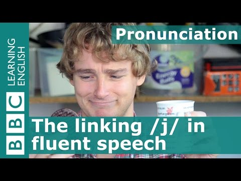 Pronunciation: The linking /j/