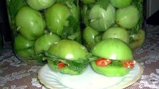 Фаршированные зеленые помидоры по грузински. Вкуснотааа! Рецепт на зиму.