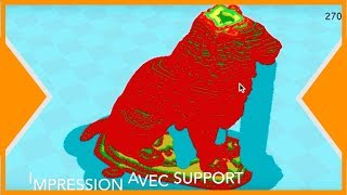 Impression 3D - ECONOMISER LE FILAMENT 3d sur LES SUPPORTS D'IMPRESSION
