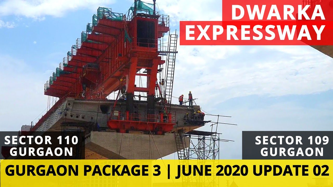Dwarka Expressway Package 3 Construction Status Near Sector 109 & Sector 110 Gurgaon   Second Update