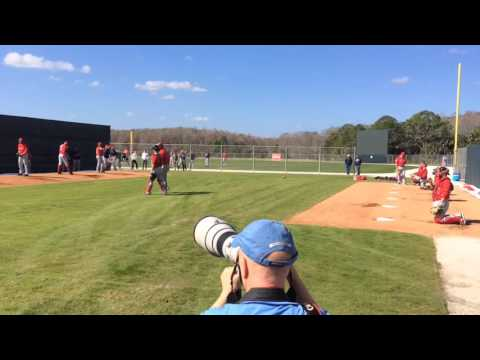 David Price throws a bullpen on the Boston Red Sox