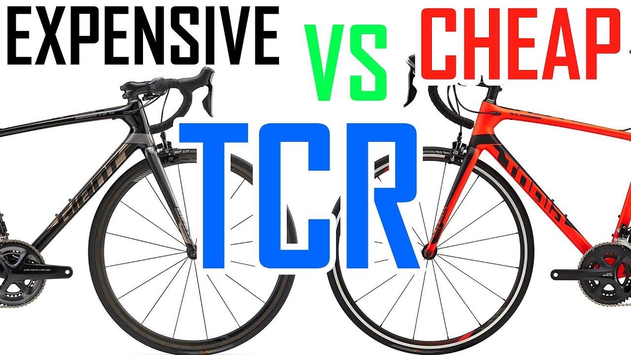 EXPENSIVE TCR VS CHEAP TCR - GIANT BIKES - YouTube