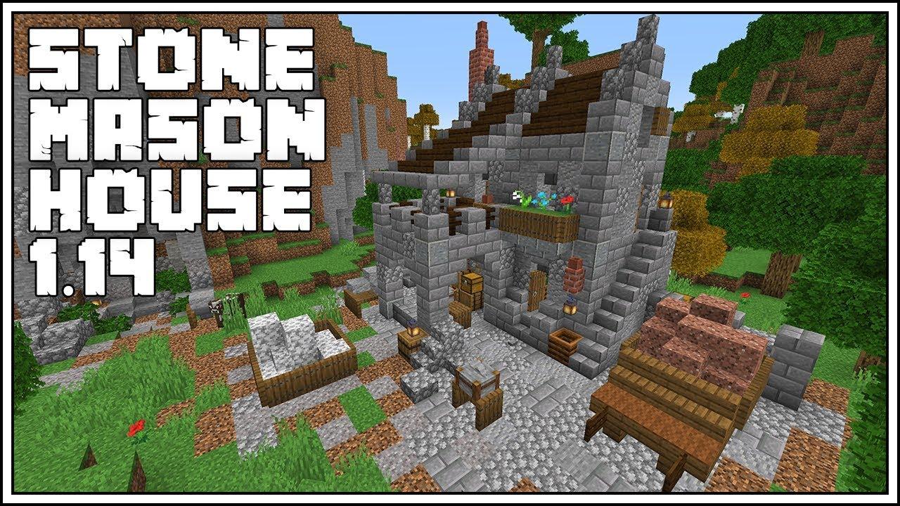 Minecraft 12.124 Tutorial ► Stone Mason House [New Stonecutter Block]