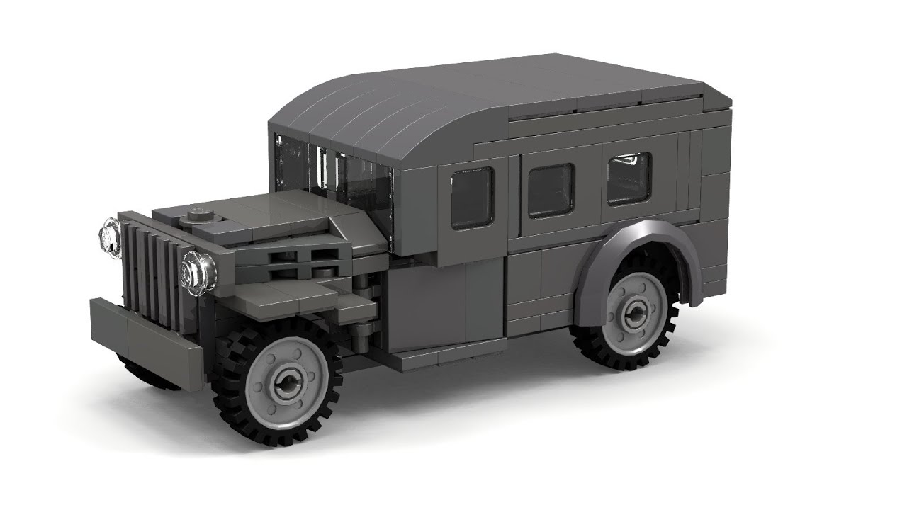 lego wwii wc 53 scout car instructions   youtube