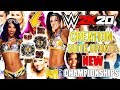 WWE 2K20: NEW TITLES & CREATION SUITE UPDATES?