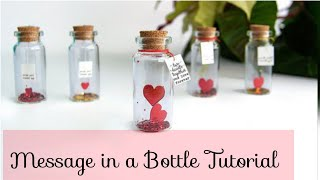 Mini Love Craft For Husband/wife   Message In A Bottle Tutorial Romantic And Cheap Gift For Spouse