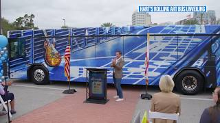 HART's Rolling Art Bus unveiling - Highlight