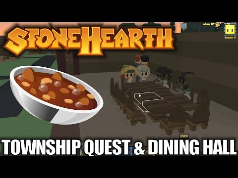 Stonehearth | Township Quest & Dining Hall | Let's Play Stonehearth Gameplay | S02E05