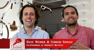 DAVE WEINER & CONNOR SWEGLE--co-founders of PRIORITY BICYCLES