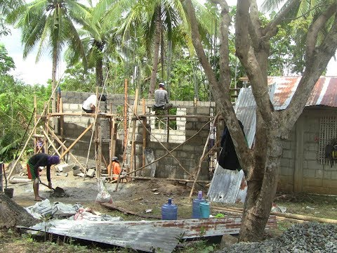 BRIAN AND MARICEL HOUSE BUILDING WORK IN PROGRESS EXPAT PHILIPPINES