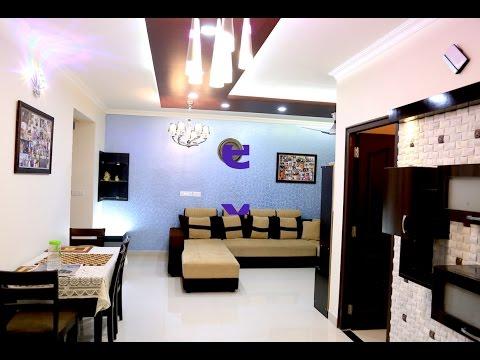 Interior Design Walkthrough of Mr. Sriharsha & Manaswini's House   Nagarjuna Meadows   Bangalore