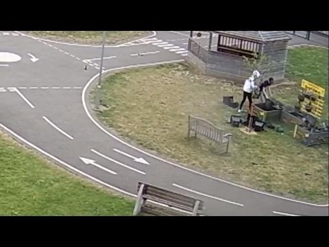 Exclusive: Watch the moment vandals trash schoolgirl's memorial garden
