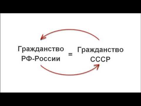 1 часть. РФ-Россия в составе СССР или разгадка союзного гражданства.