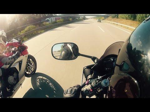 Yamaha R6 vs MV Agusta Acceleration & Top Speed [1080p]