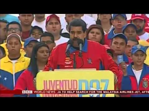 Ciara Riordan - Venezuela further protests - BBC World News - 23rd March 2014