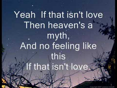 IF THAT ISN'T LOVE
